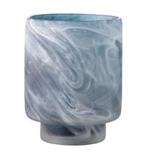 Värmeljushållare Grå Glas 10x12cm
