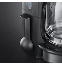 Retro Kaffebryggare Glas 10 koppar Röd