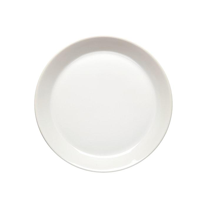 Assiett 20 cm med kant vit