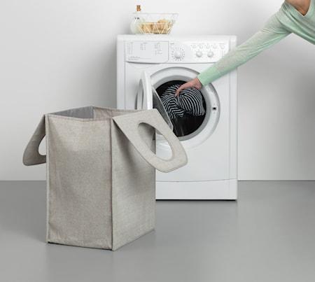Tvättkorg Rektangulär Grå 55 L