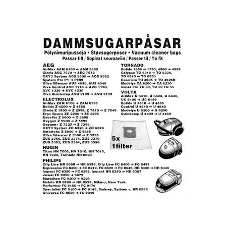 Champion Dammpåsar Electrolux 5st 1st