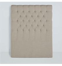 Paula sänggavel linen - Natur, 160 cm
