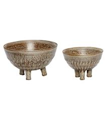 Skål Keramik Brun 2 st