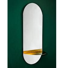 Spegel Oval Brass