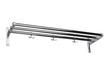 Nostalgi krom/aluminium L=1000 mm hatt/skohylla