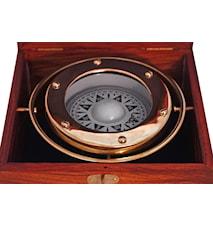 Kompass solid mässing