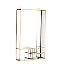 Spejl med hylde 20,5x6x34,5 cm - Messing