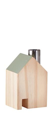 Figur Casa Metal/Verde 10cm