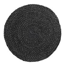 Tabletti Juutti Ø 35 cm - Musta