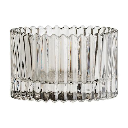 Lyslykt Glass Grå 7x4,5