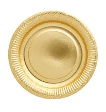 Papperstallrikar 8-pack Guld