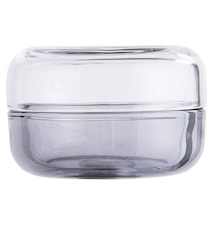 Glassboks med lokk Grå 8,5x6cm