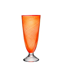 Red Rim Orange Vase 26 cm