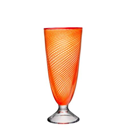 Red Rim Oransje Vase 26 cm