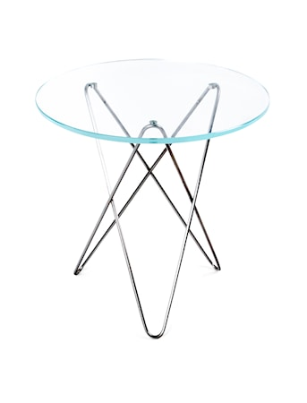 Tall mini o-table glass