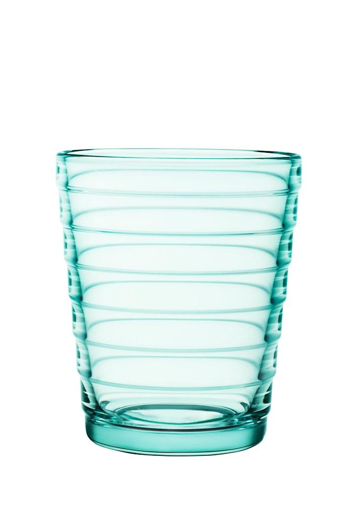 Aino Aalto glass 22 cl vanngrønn 2-pakk