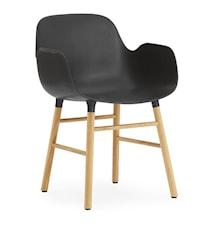 Form Karmstol ek - svart