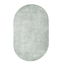Oval Viscose Teppe Grønn