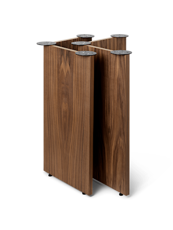 Mingle Wooden Bordsben W48 Walnut Veneer