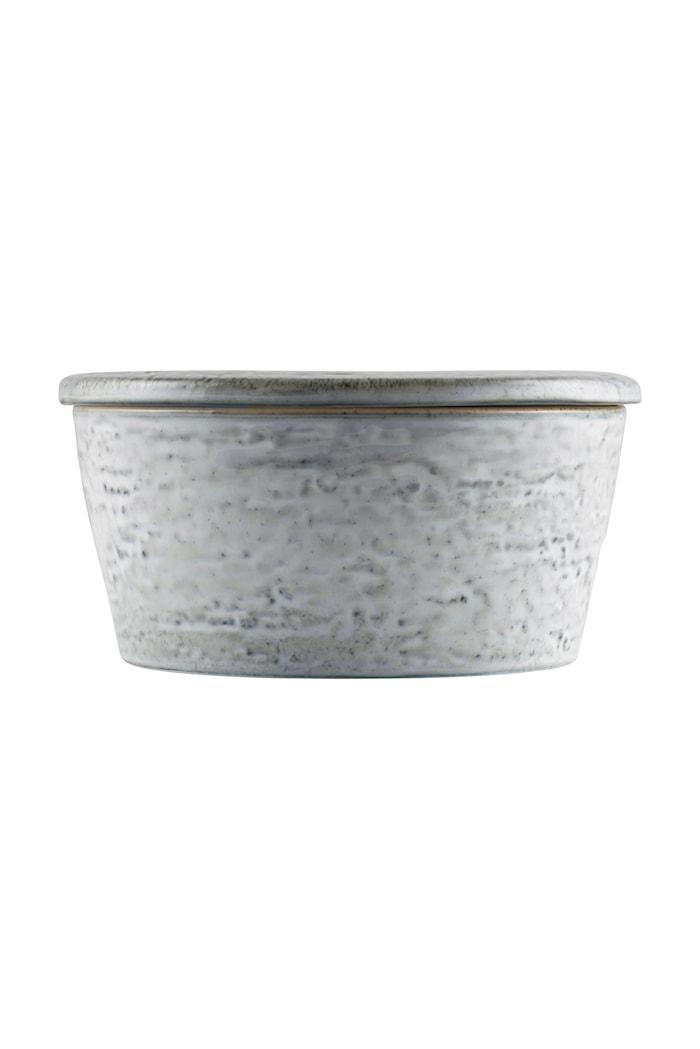 Förvaringsburk Rustic Ø 14x7 cm - Grå/Blå