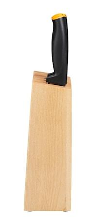 Funksjonelt Knivsett 5 stk inkl. treblokk
