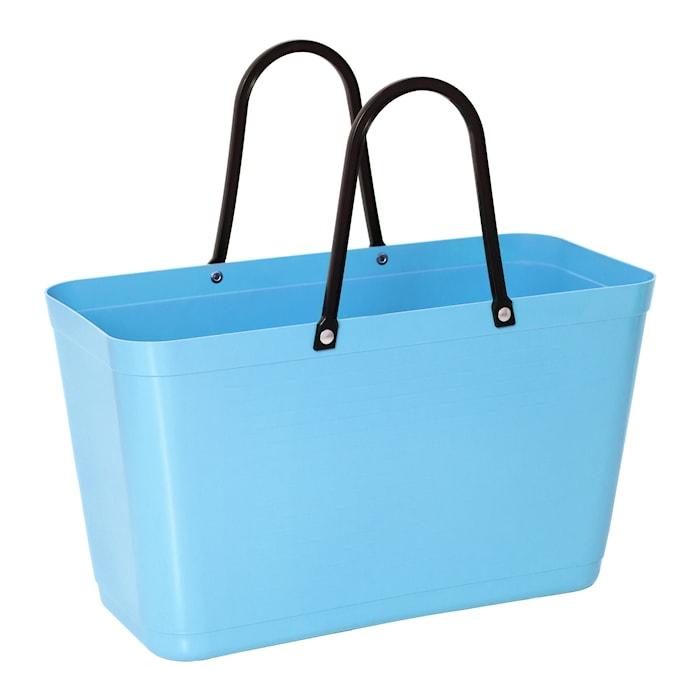 Väska Stor Green Plastic Ljusblå