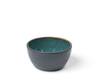 Skål 10 cm svart/grön BITZ