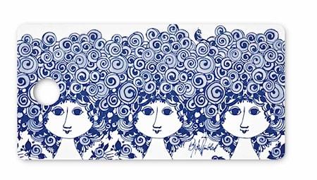 Smørbrødsbakke, Rosalinde, blå, 20x40 cm