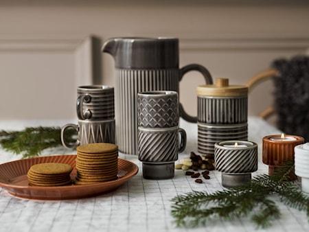 Coffee & More Glögg/Espresso Kopp Grå 4-pack