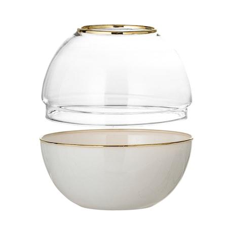 Kuppel Glas Ø 13,5 cm - Hvid