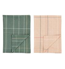 Kjøkkenhåndkle Multi 70 x 50 cm 2 stk