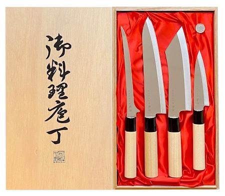 Houcho Knivset 4 delar