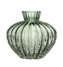 Vase Green Glass Ø20x19 cm