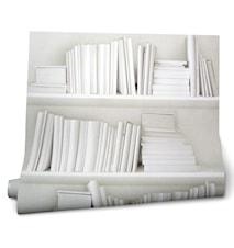 Bookshelf white - tapet