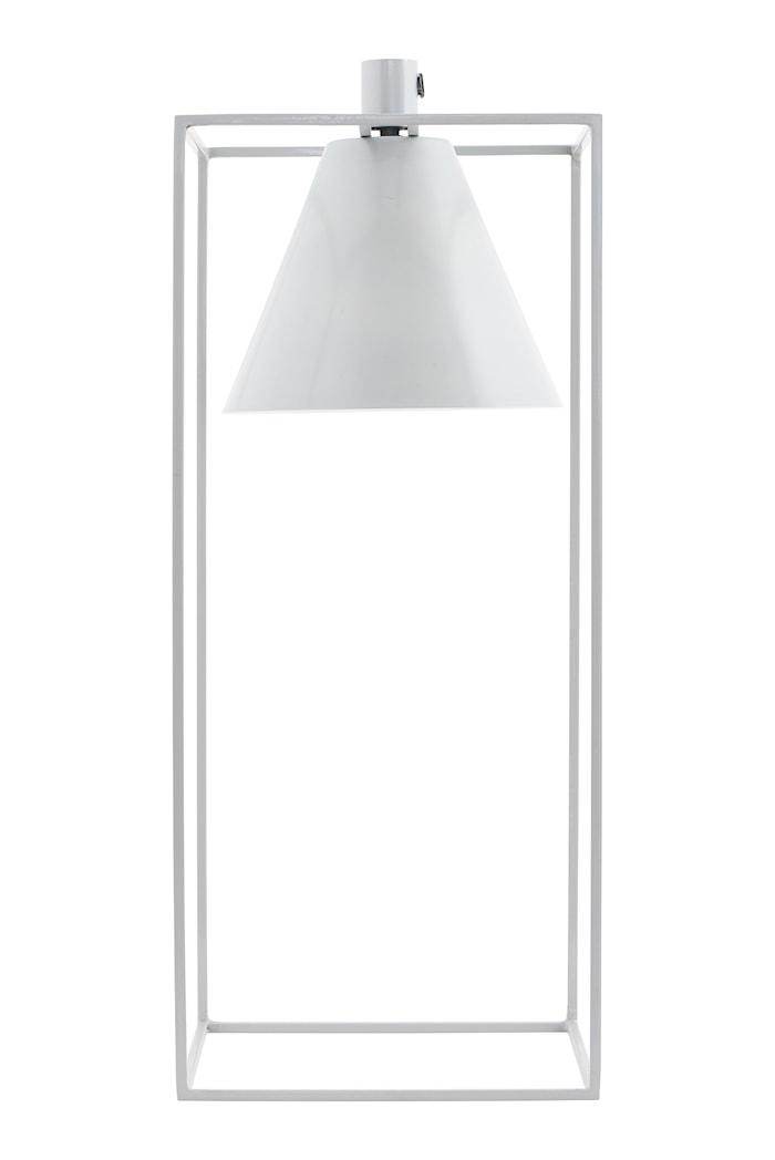 Bordslampa Kubix 18x18cm Grå/vit