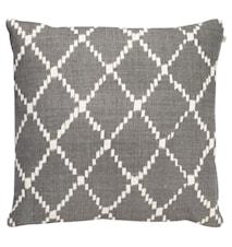 Ikat Kerela Pillowcase Linen Grey 50x50cm