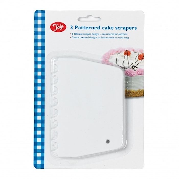 Mønsterkrape, hvit 3-pakk