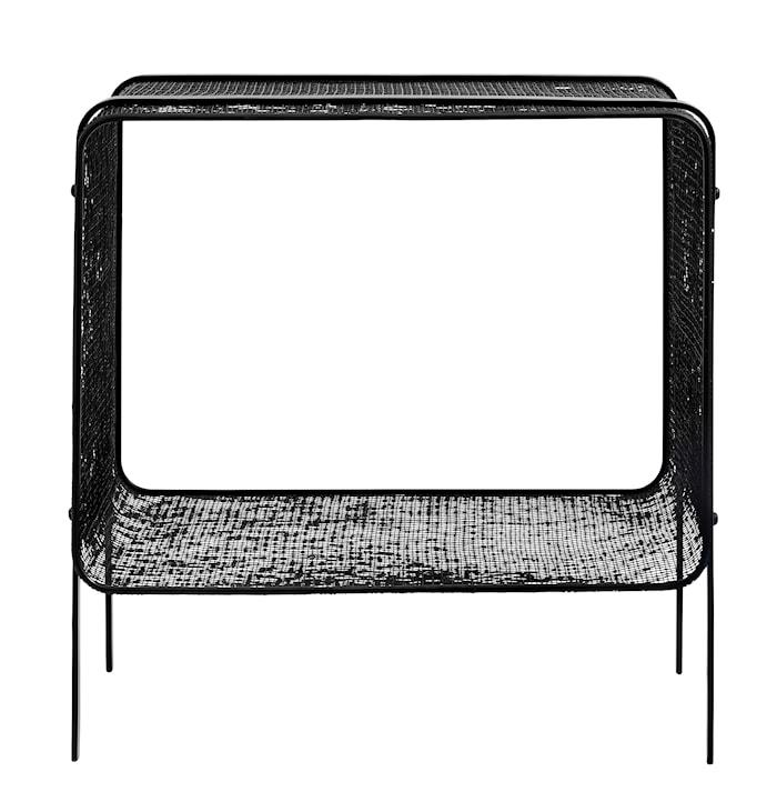 Sängbord Järn Svart 35x40cm