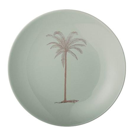 Tallerken Palm 20 cm - Grøn
