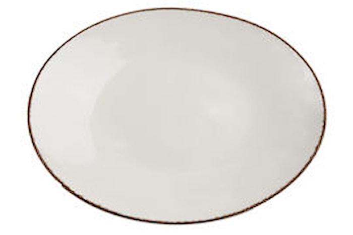 Assiette plate 36 x 27 cm Fortuna beige