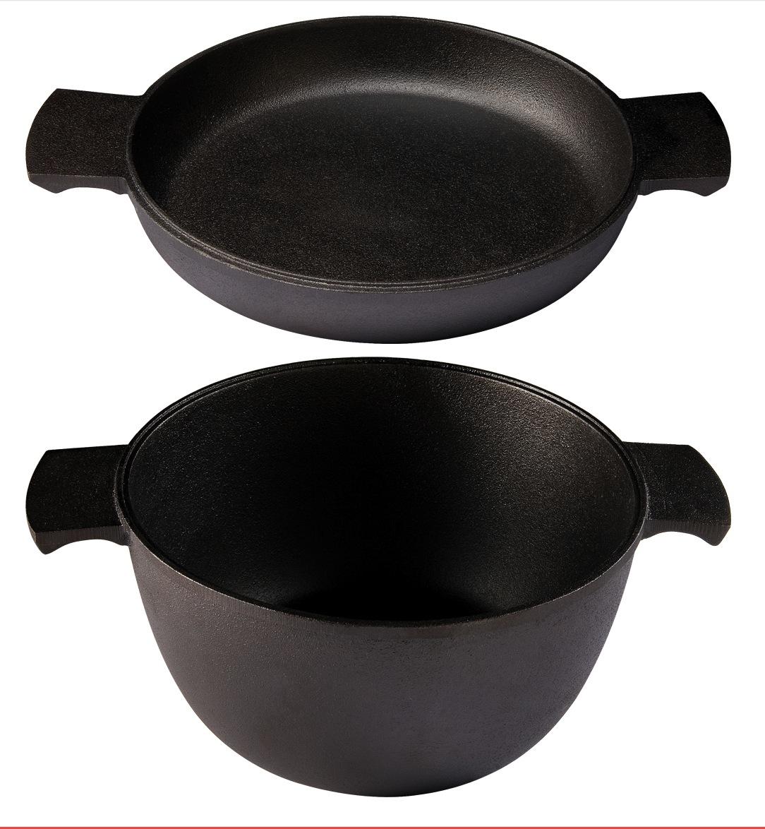 Grytstapel 2 delar – Gryta 30 liter + Omelettpanna 23 cm