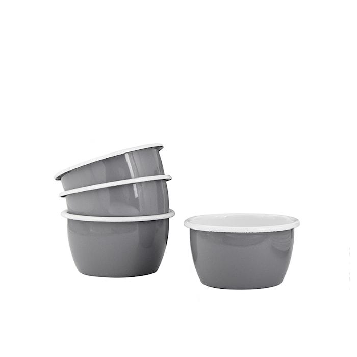 Juego de cuencos 10 cm 4 piezas Kockums Grey