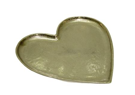 Salma Hjerteformet brett aluminium 34x35 cm