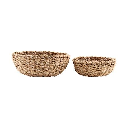 Brödkorg Set med 2 storlekar (h: 6 cm dia: 18 cm) (h: 9 cm dia: 22 cm)