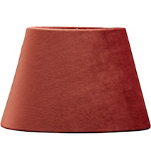 Lampeskjerm Oval Fløyel Rust
