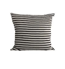 Stripe Kissenbezug 50x50 cm Schwarz/Grau