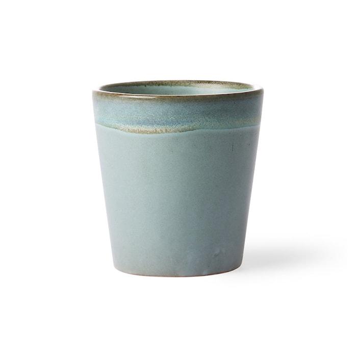 70's Keramik Mugg Blå 20 cl