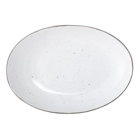 Emily Serveringsfad Hvid Stentøj 30,5x21,5 cm