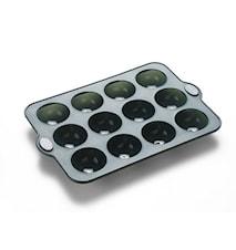 Chokolade f 12 hul grå silikon