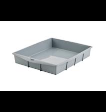 Rektangulær Bageform Platinumsilikone 32x25x5 cm Grå